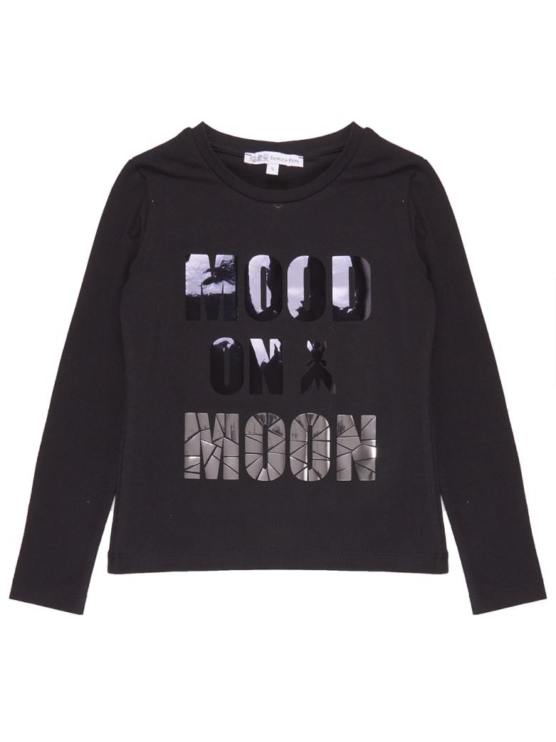 Patrizia Pepe T-shirt Mood On Moon - Nero