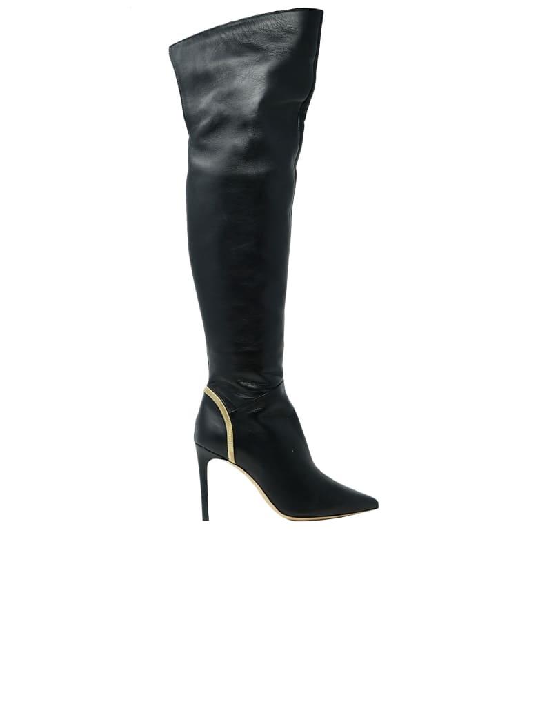Ninalilou Leather Boots - BLACK