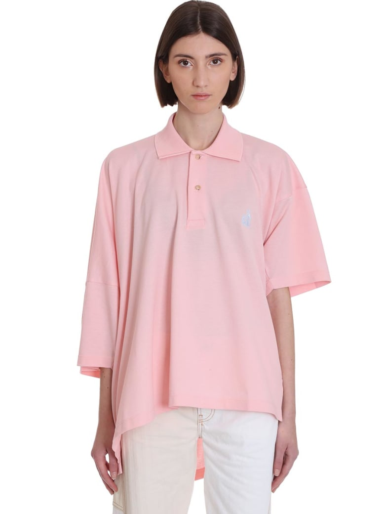 Lanvin Polo In Rose-pink Cotton - rose-pink