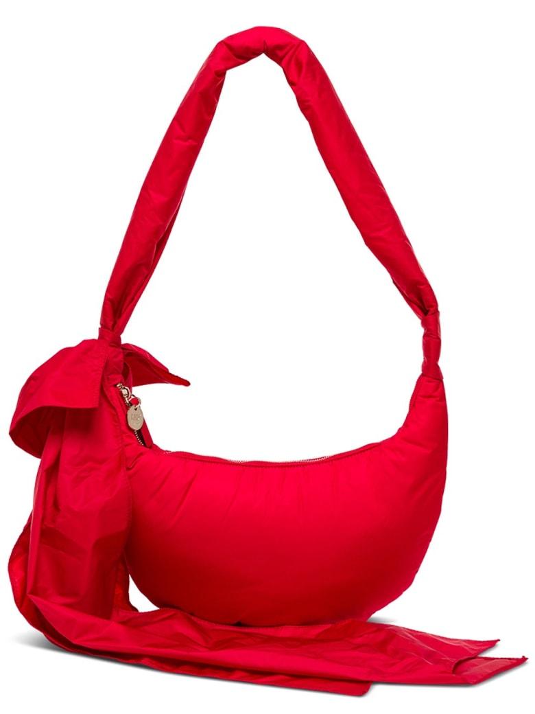 RED Valentino Obo Crossbody Bag In Nylon - Red