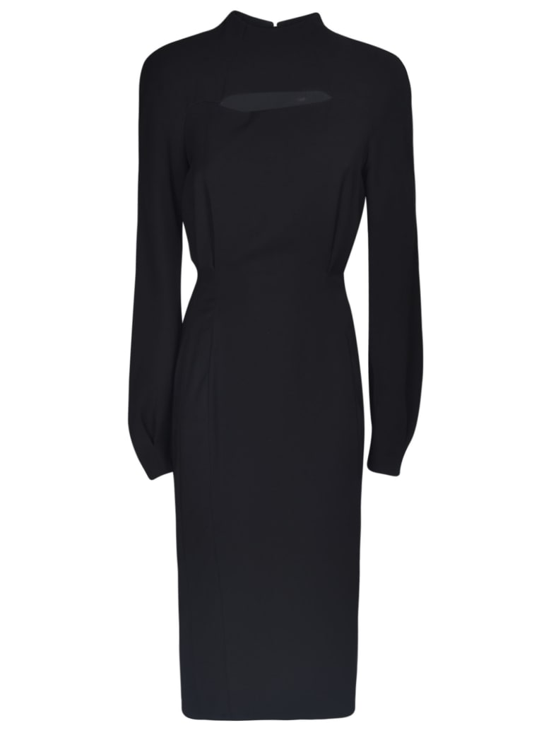 Versace Balloon Sleeve Slim Waist Dress - Nera