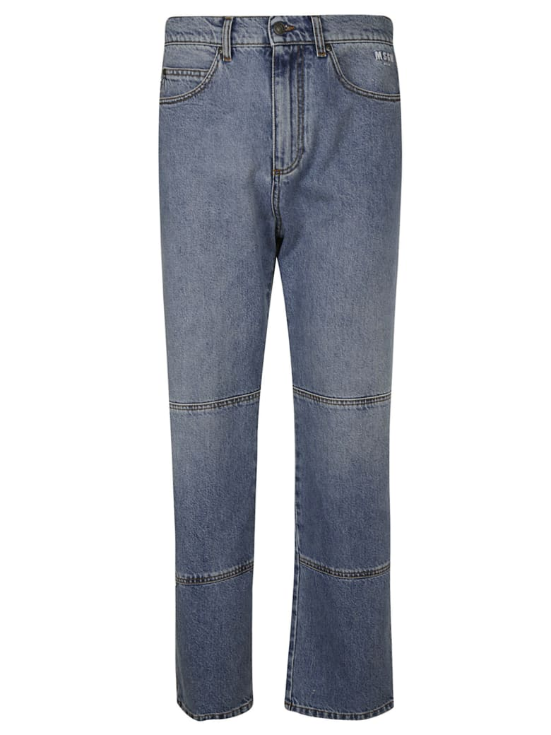 MSGM Straight Leg Jeans - Denim Blue