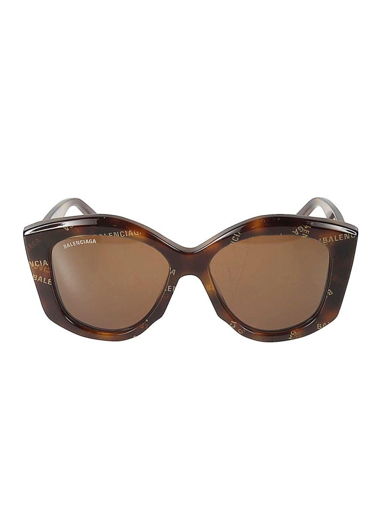 Balenciaga Embossed Logo Sunglasses - Marrone