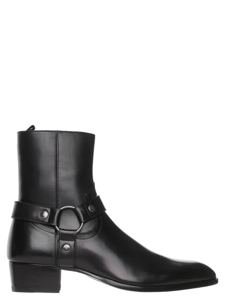 Saint Laurent 'wyatt' Shoes - Nero