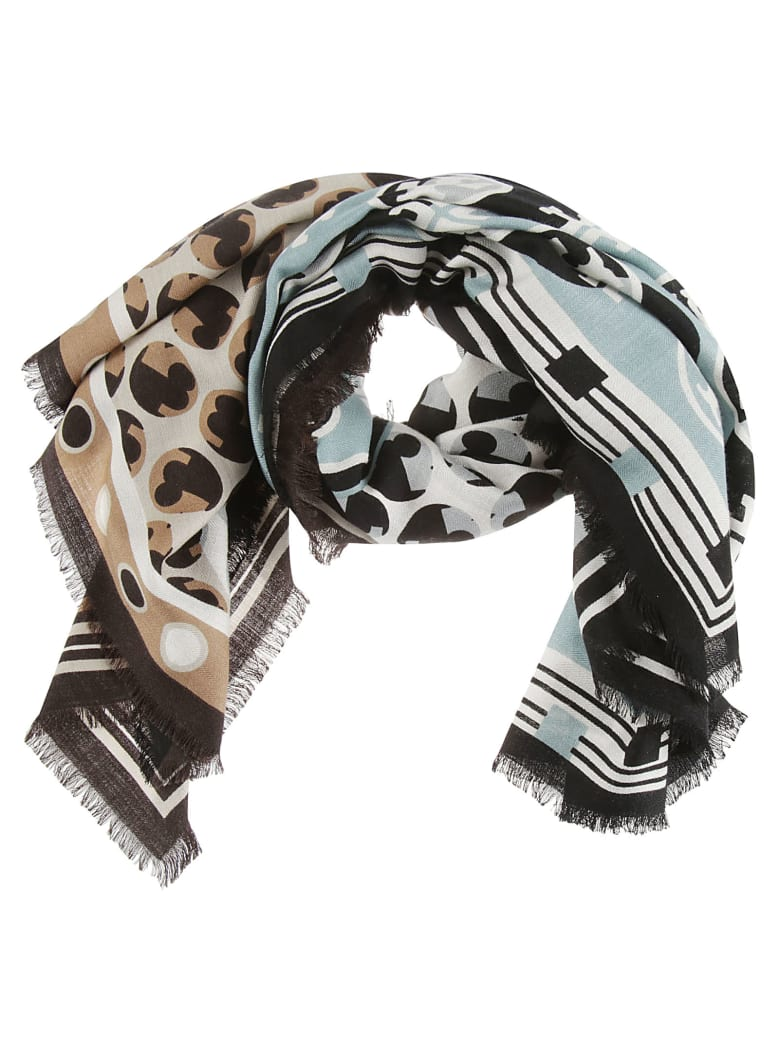 Tory Burch Multi Patchwork Oversized Square Scarf - Multicolor