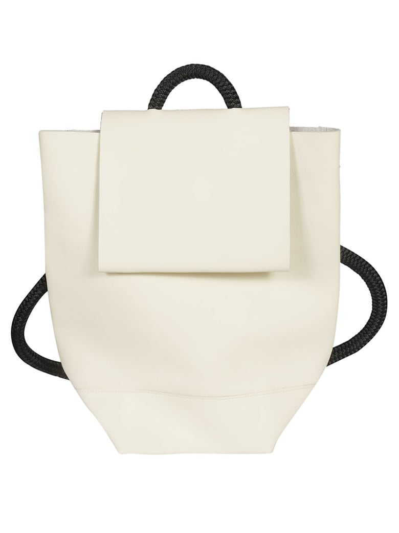 Zucca Logo Detail Backpack - Ivory