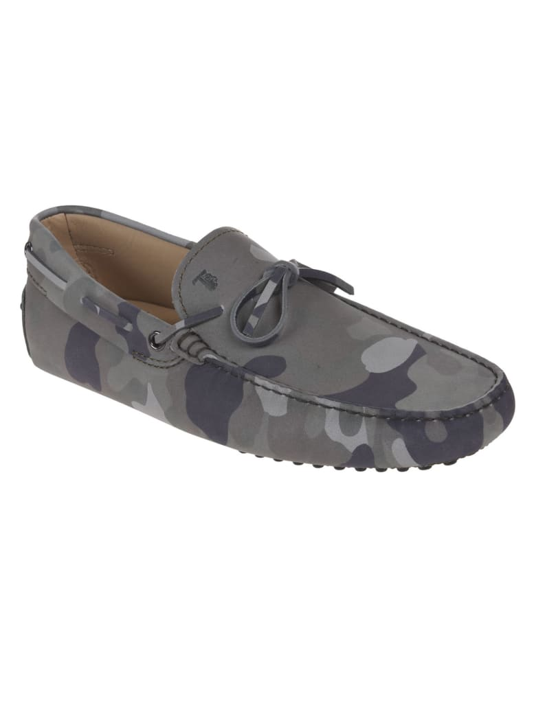 Tod's Logo Stamped Lace-up Loafers - Salvia