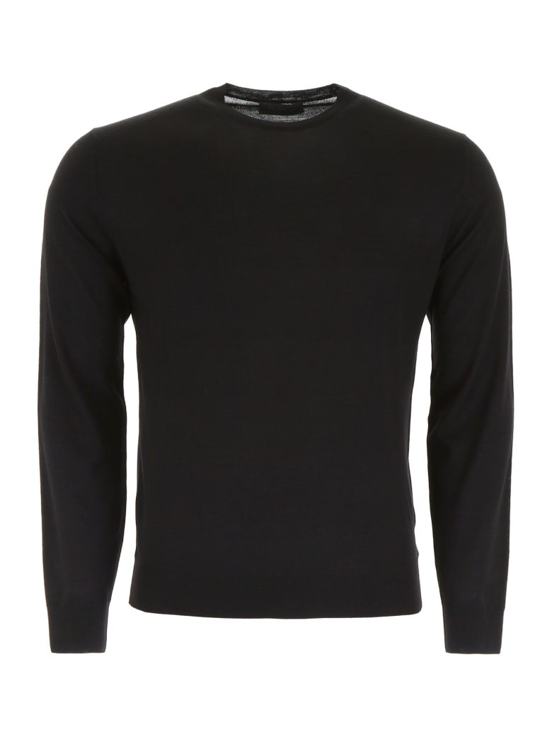 Prada Brushed Wool Pullover - NERO (Black)