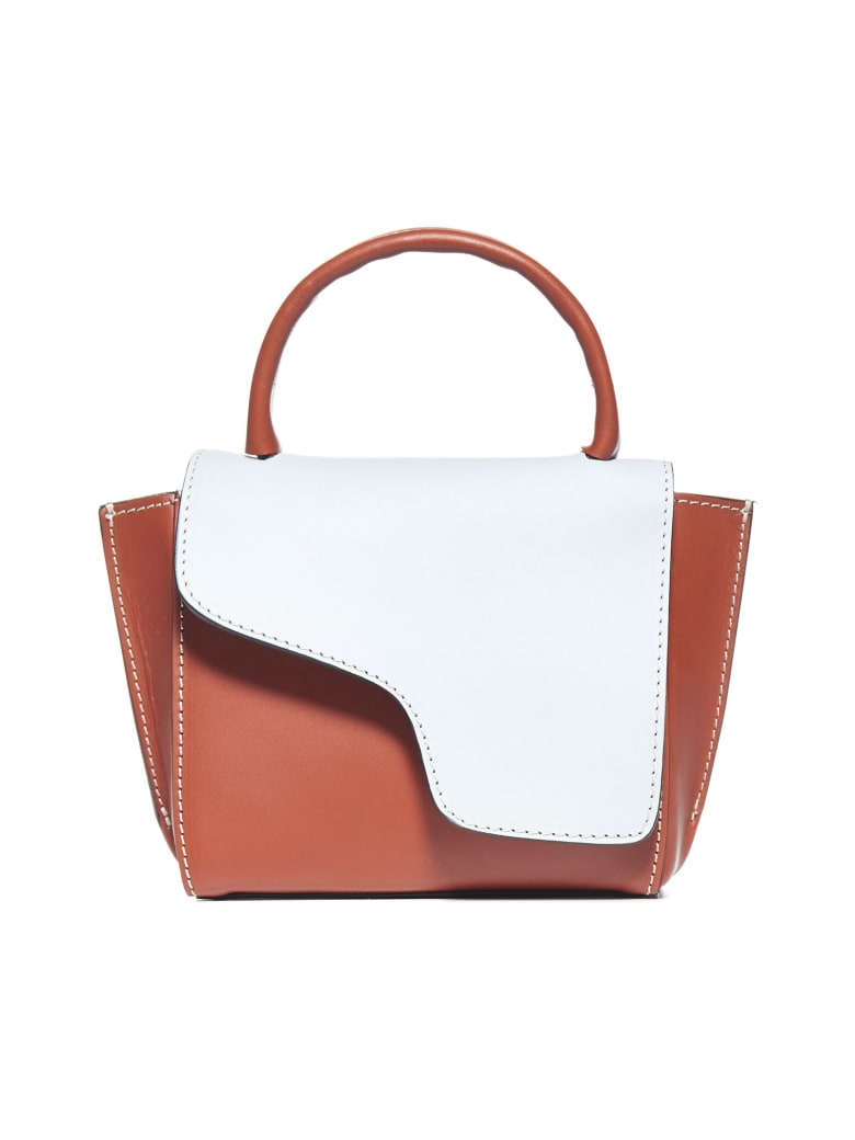 ATP Atelier Montalcino Mini Calfskin Bag - Light blue/rust