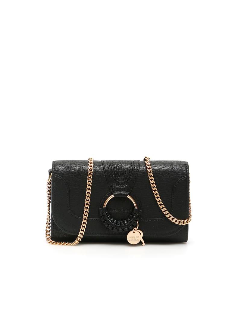 See by Chloé Hana Long Wallet Chain Mini Bag - BLACK (Black)