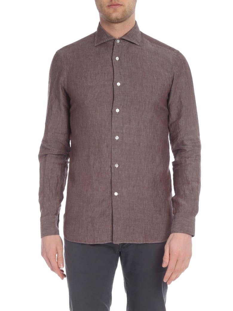 Borriello Napoli Classic Collar Linen Shirt - Moro