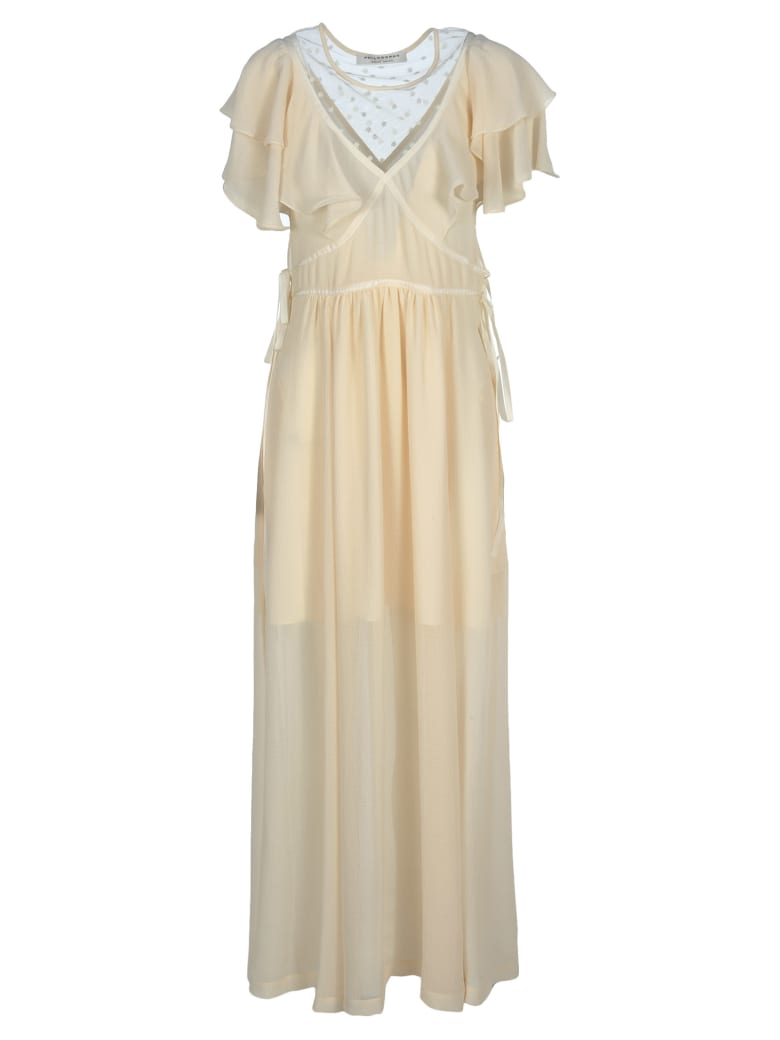 Philosophy di Lorenzo Serafini Philosophy Philosophy Ruffle Long Dress - IVORY