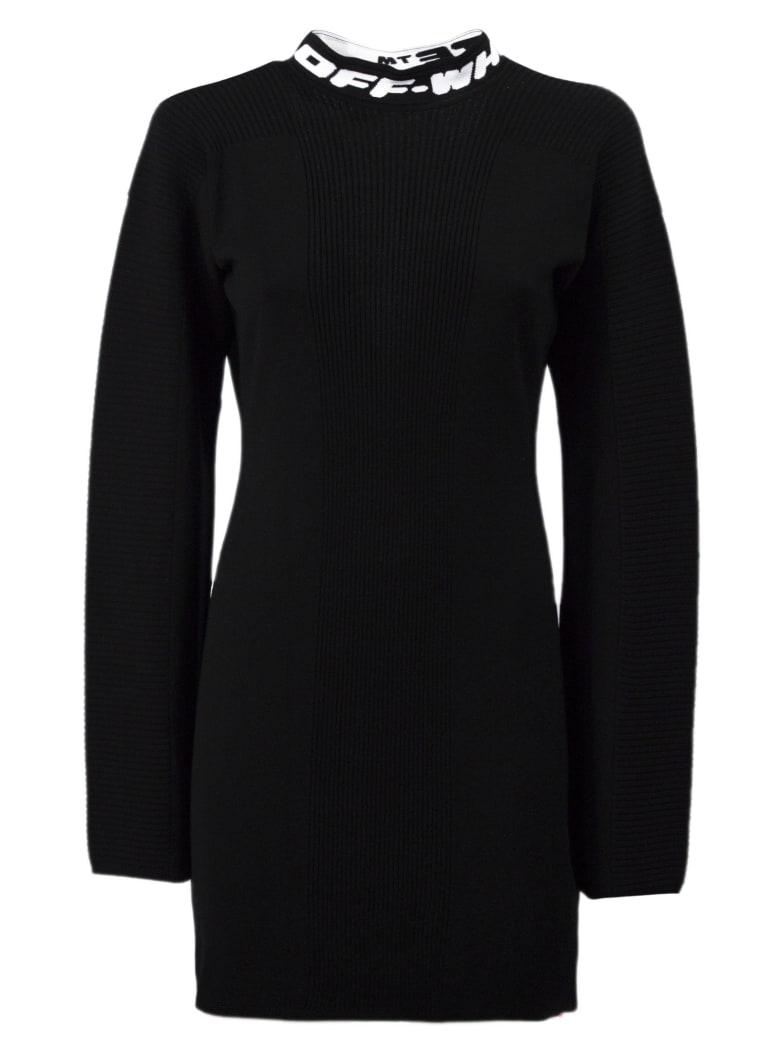 Off-White Black Knit Mini Dress - Nero
