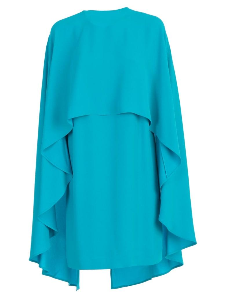 Sara Battaglia Cape Dress - Turchese