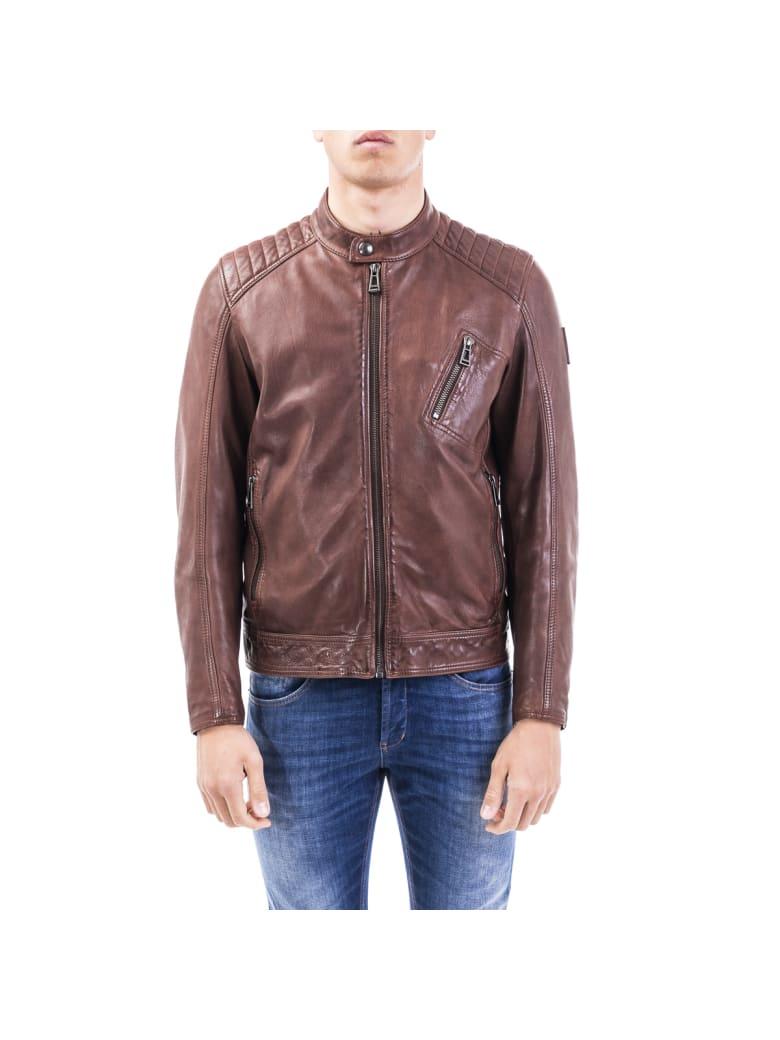 Belstaff Leather Jacket - LIGHT BROWN