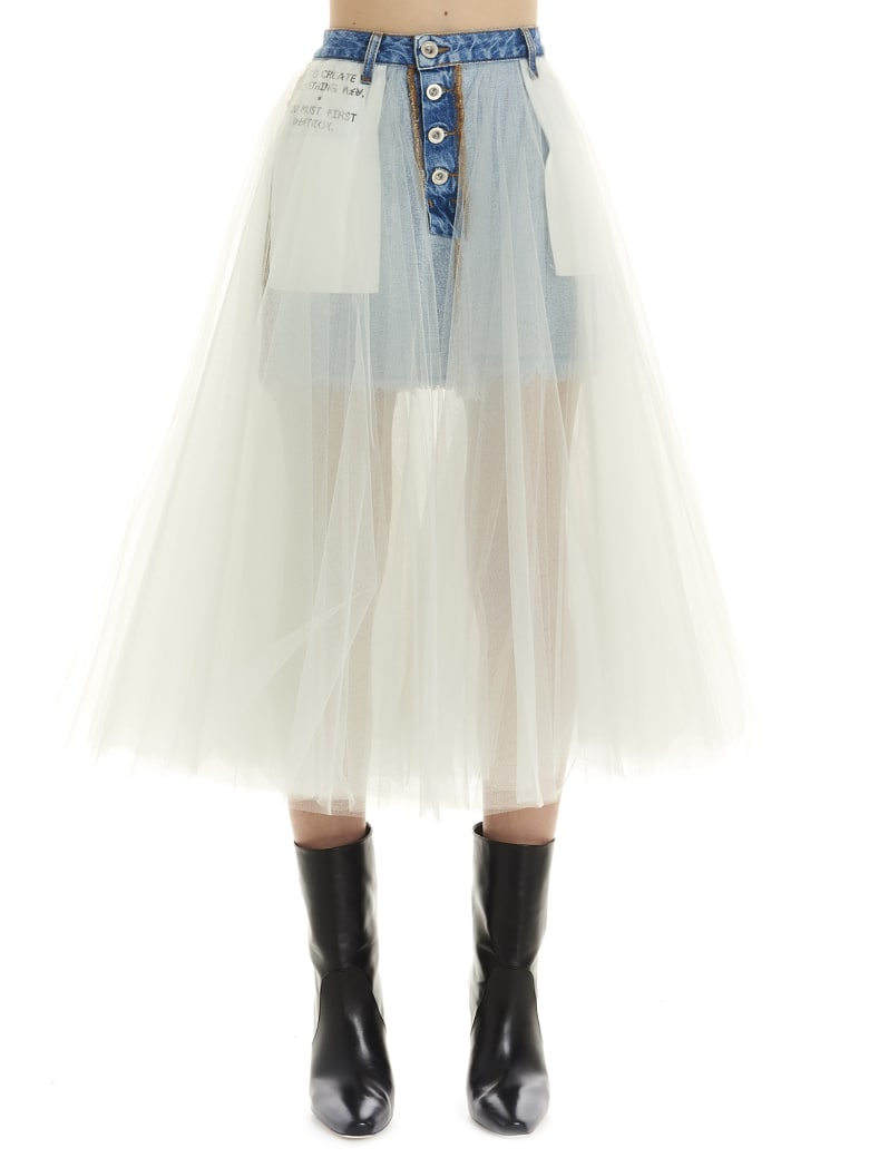 Ben Taverniti Unravel Project Skirt - White