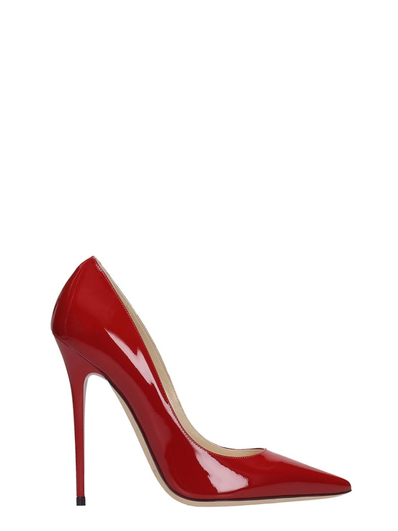 Jimmy Choo Anouk Red Patent Leather Pumps - red