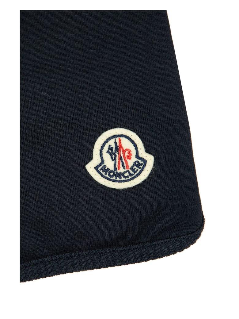 Moncler Drawstrings Logo Shorts Blue - Blu