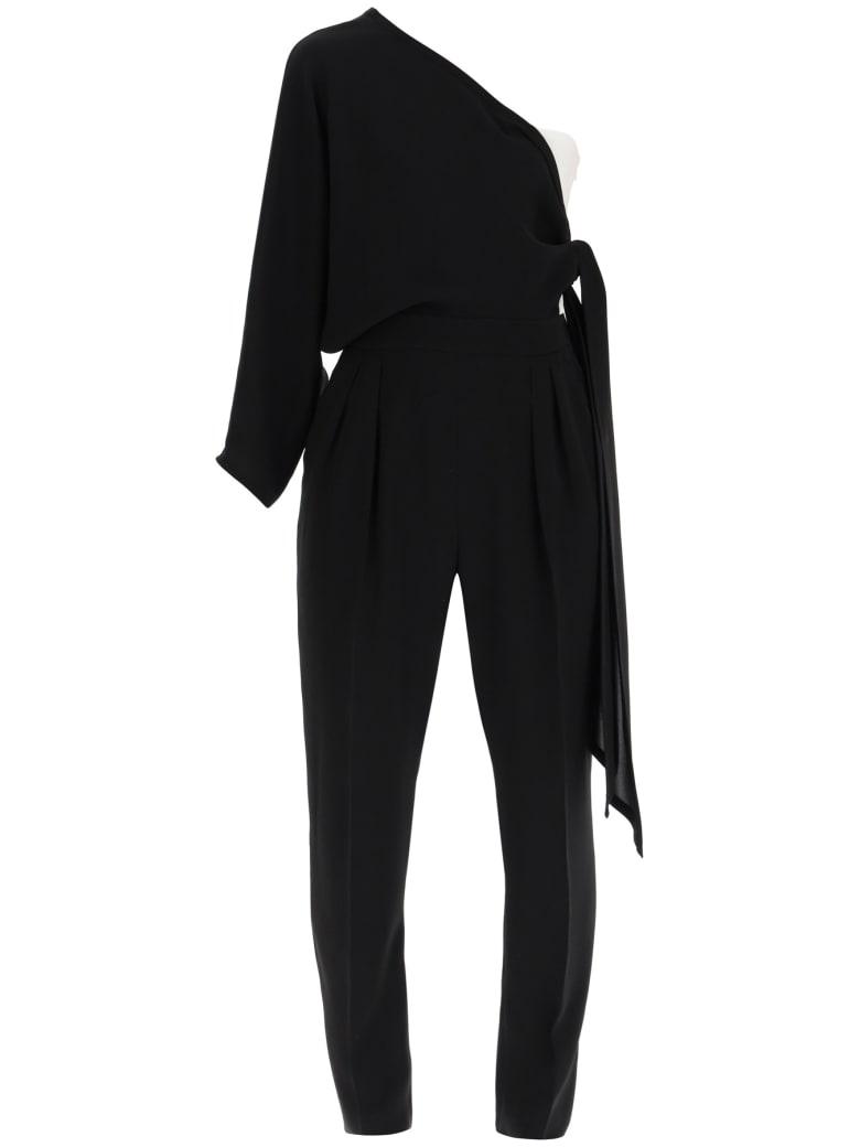 Max Mara Studio Recente One-shoulder Jumpsuit - NERO (Black)