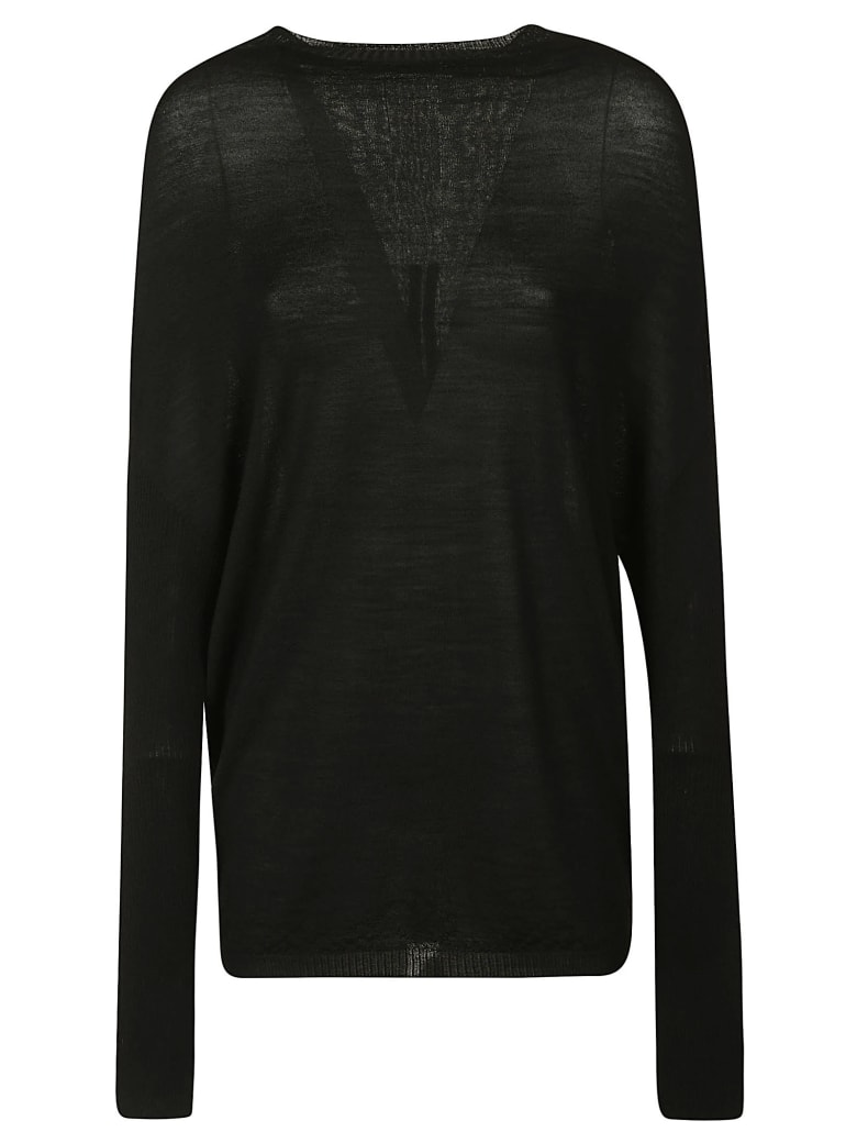 Rick Owens Crater Knit Pullover - Black