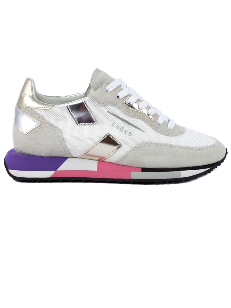 GHOUD Sneaker In Grey Suede - Bianco