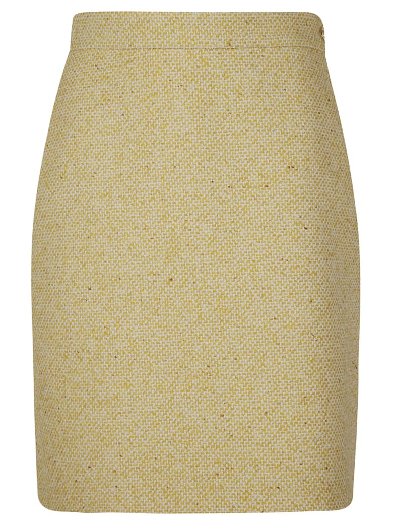 Gucci Side Zip Mid-length Skirt - Yellow