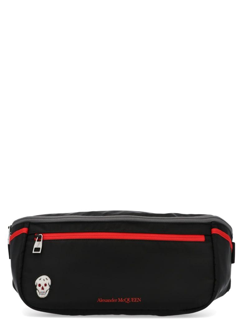 Alexander McQueen 'oversize Double Zip' Bag - Black