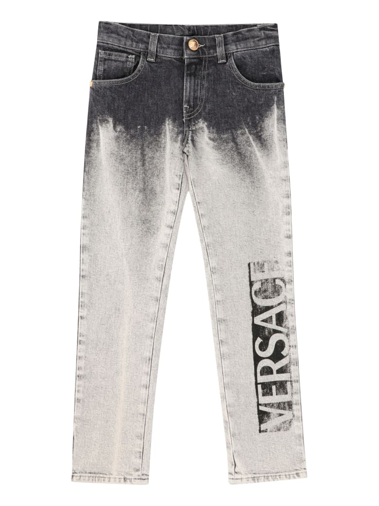 Young Versace 5-pocket Jeans - grey