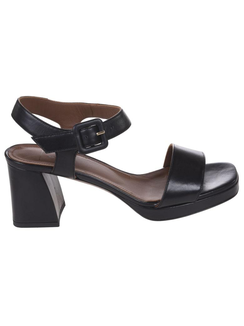 L'Autre Chose T-strap Block Heel Sandals - Black