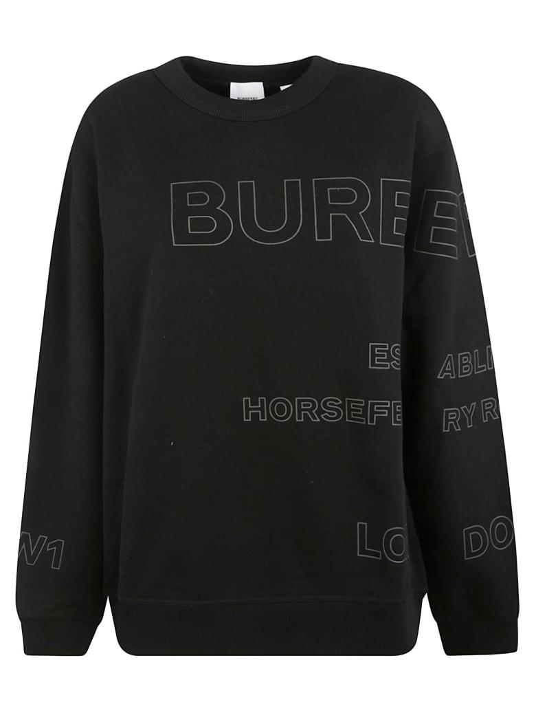 Burberry Logo Print Sweatshirt - Black