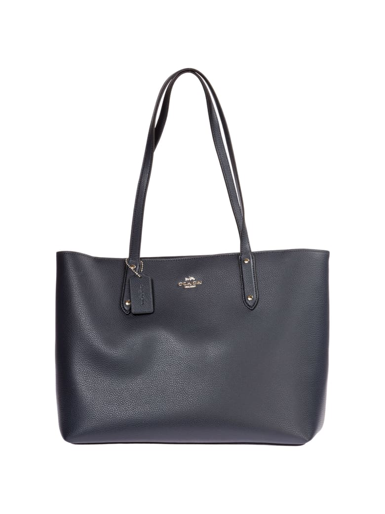 Coach Central Shoulder Bag - Blu Marina Notte / Argento