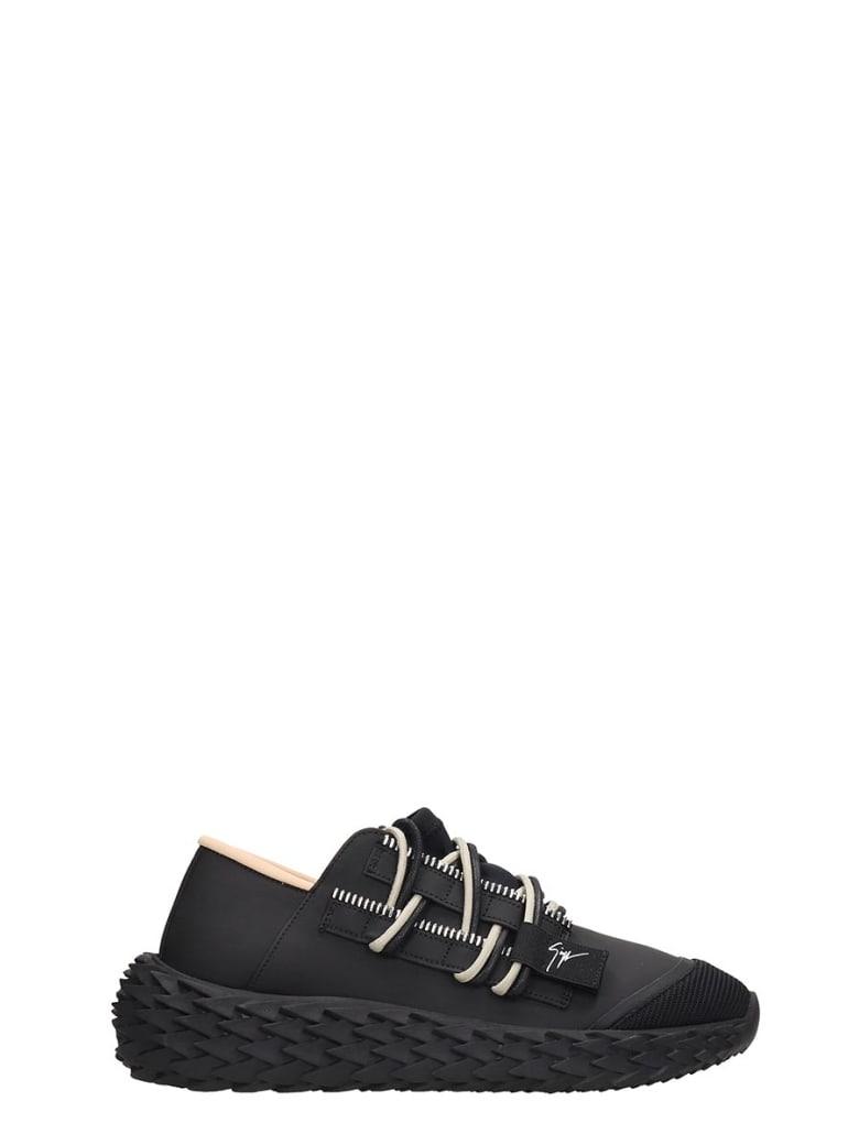 Giuseppe Zanotti Urchin  Sneakers In Black Rubber/plasic - black
