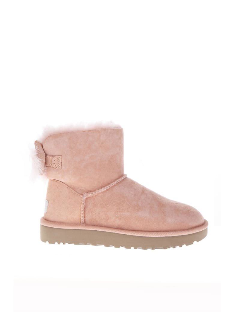 UGG Fluff Pink Mini Boots - Pink