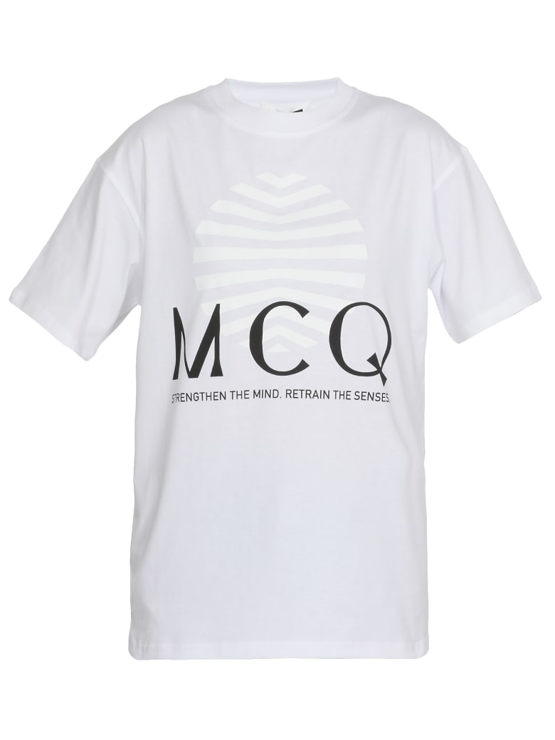 McQ Alexander McQueen Logo T-shirt - OPTIC WHITE