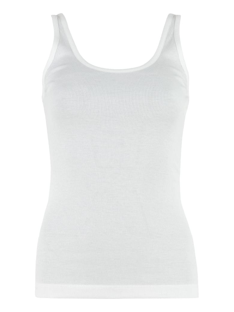 Vince Ribbed Tank Top - White