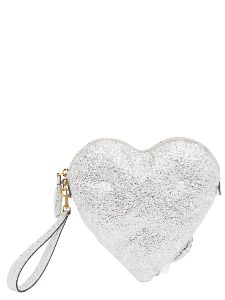 Anya Hindmarch 'chubby Heart' Bag - Silver