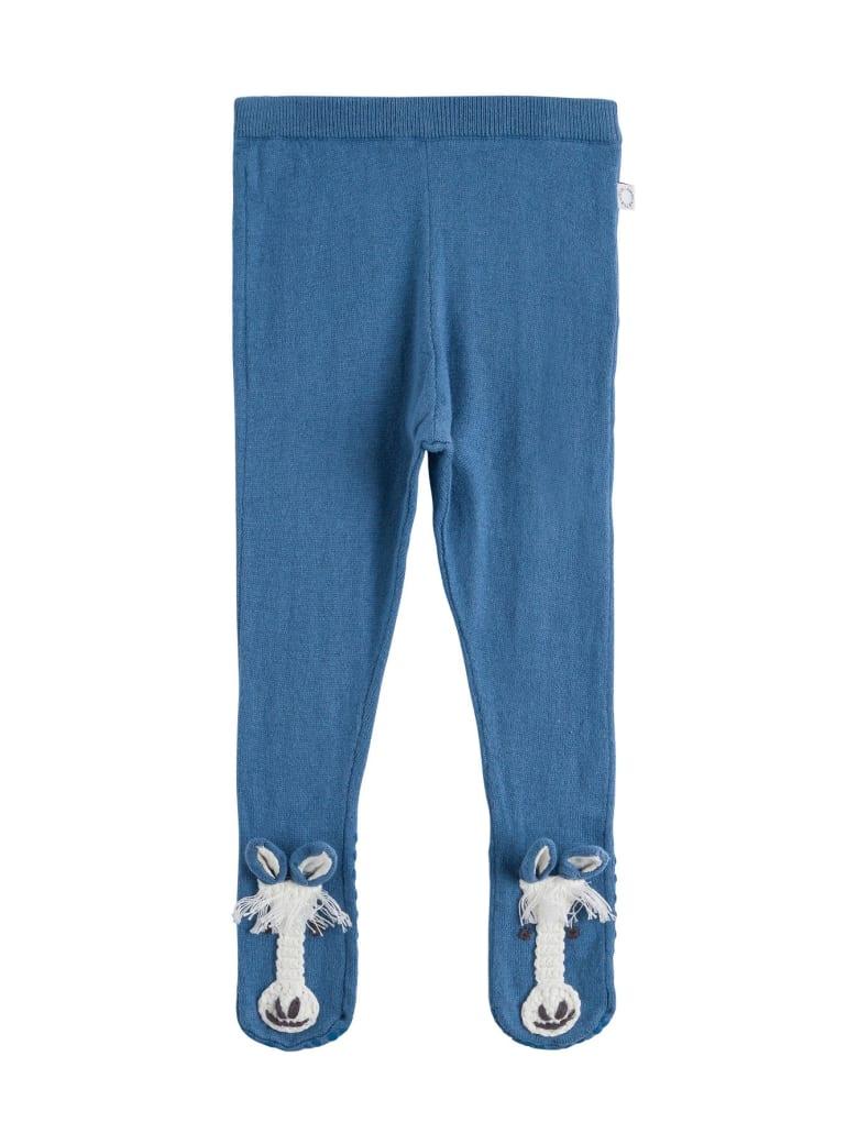 Stella McCartney Kids Tricot Knit Leggings - Blu