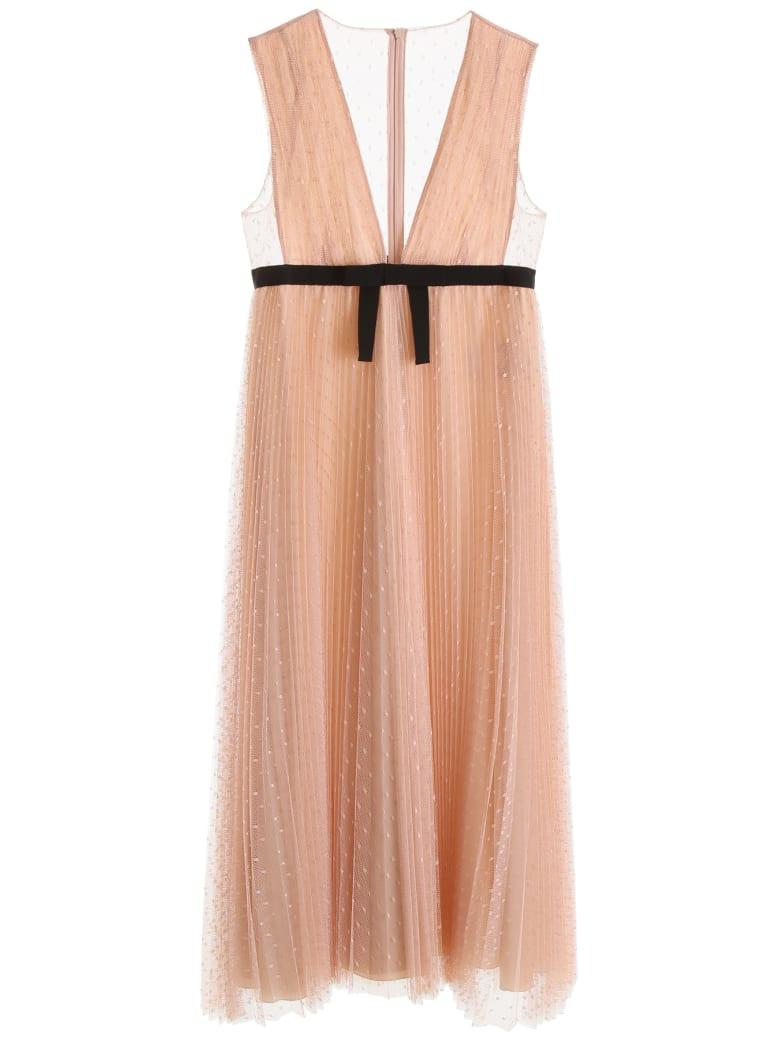 RED Valentino Long Plumetis Dress - NUDE (Beige)