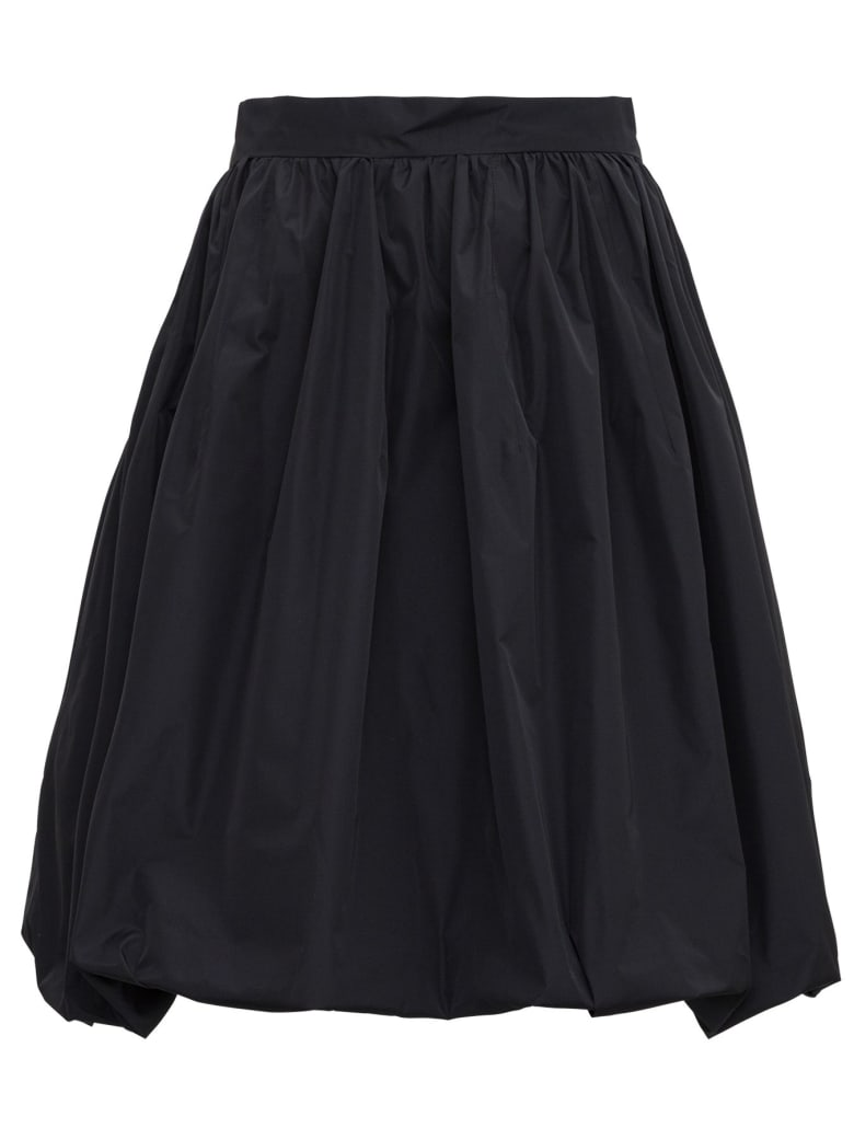 Patou Gathered Skirt - Black