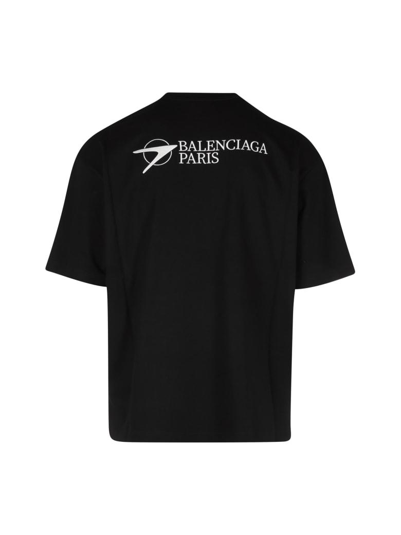 Balenciaga Medium Fit T-shirt Vintage Jersey - Nero e Bianco