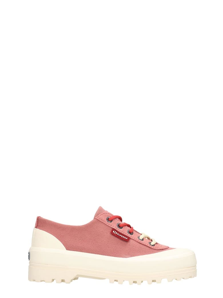 Superga Alpina Low  Sneakers In Rose-pink Canvas - rose-pink