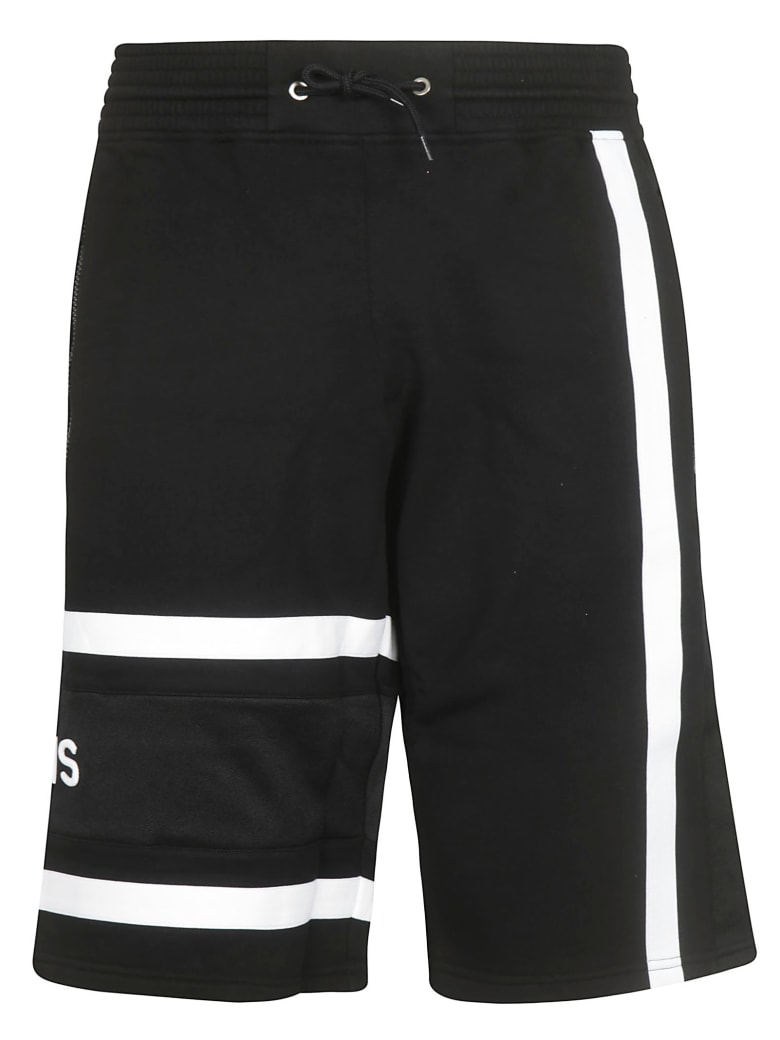Givenchy Logo Track Shorts - Black White