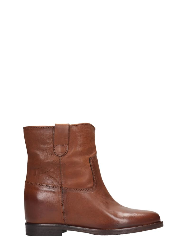 Julie Dee Ankle Boots In Leather Color Leather - leather color