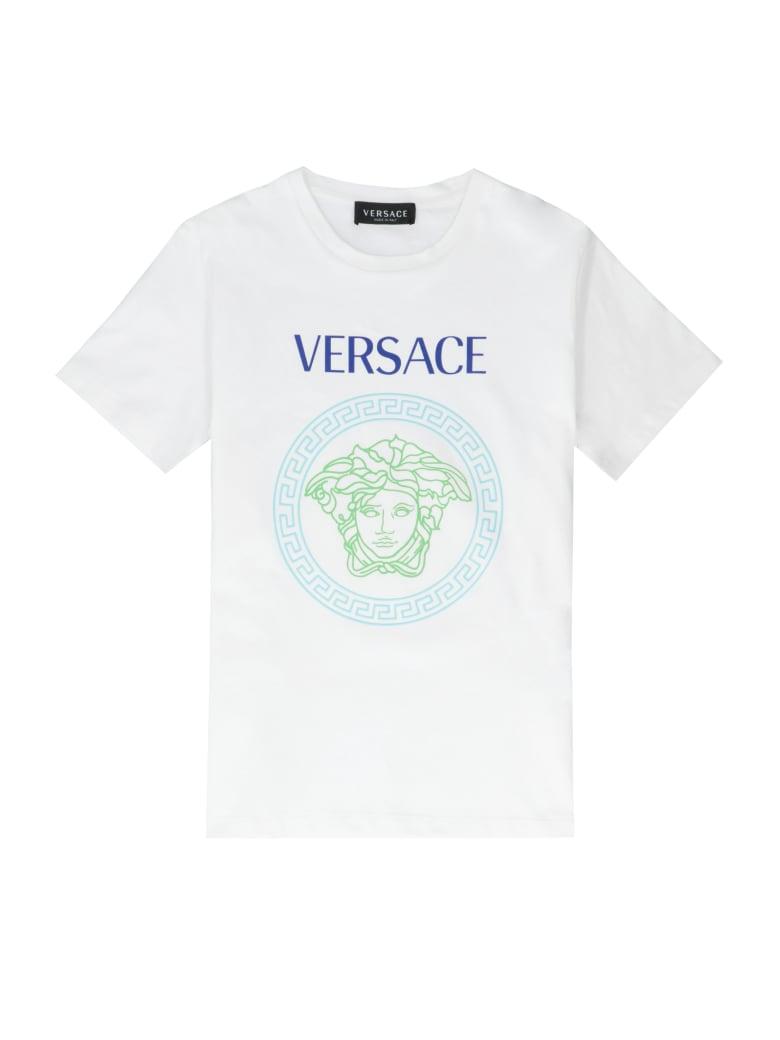 Young Versace Medusa Detail Cotton T-shirt - White