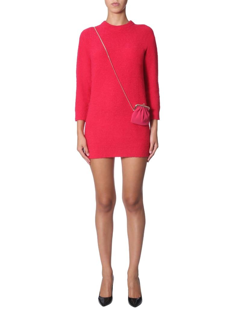 Boutique Moschino Long Sleeve Dress - FUCSIA