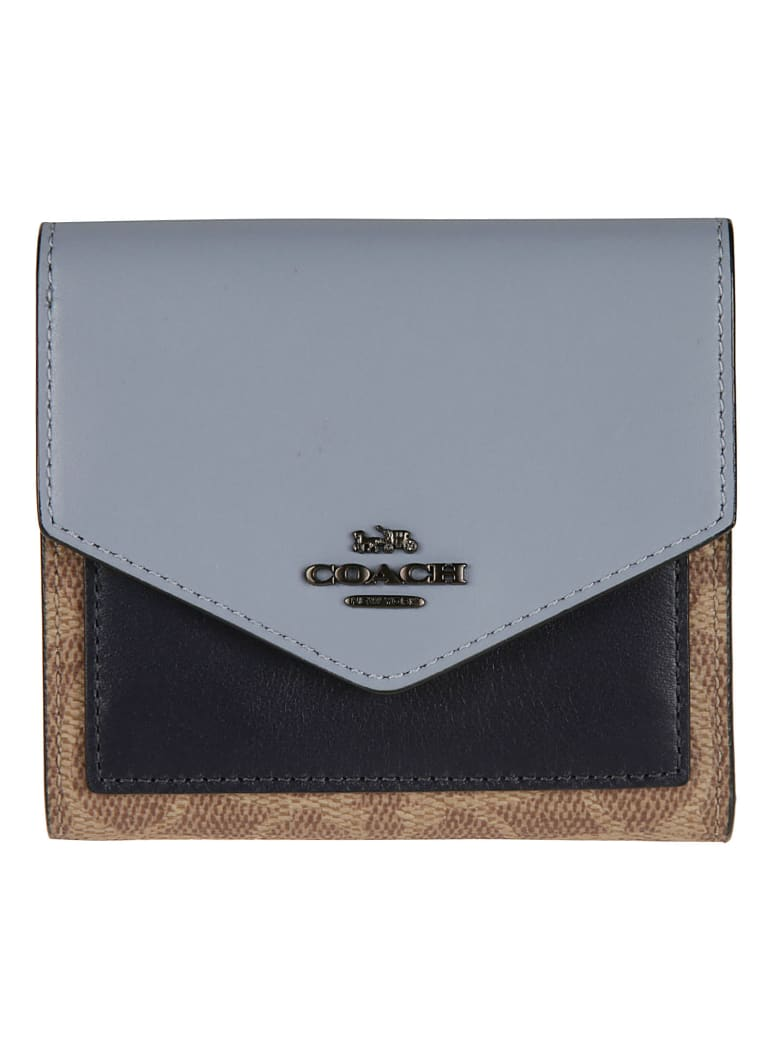 Coach Logo Plaque French Wallet - ink