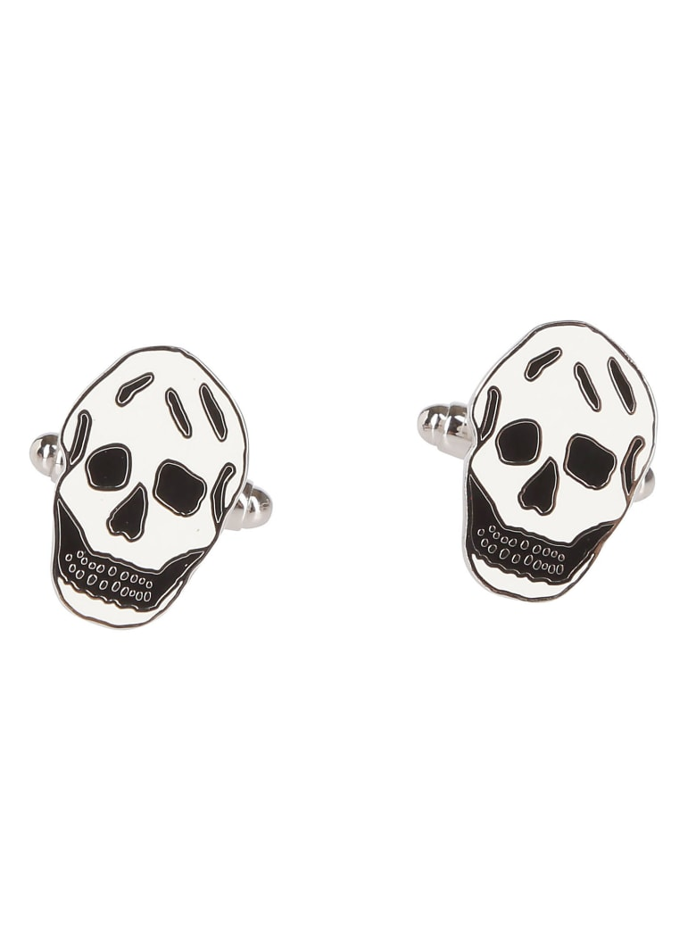 Alexander McQueen Skull Cufflinks - BLACK WHITE