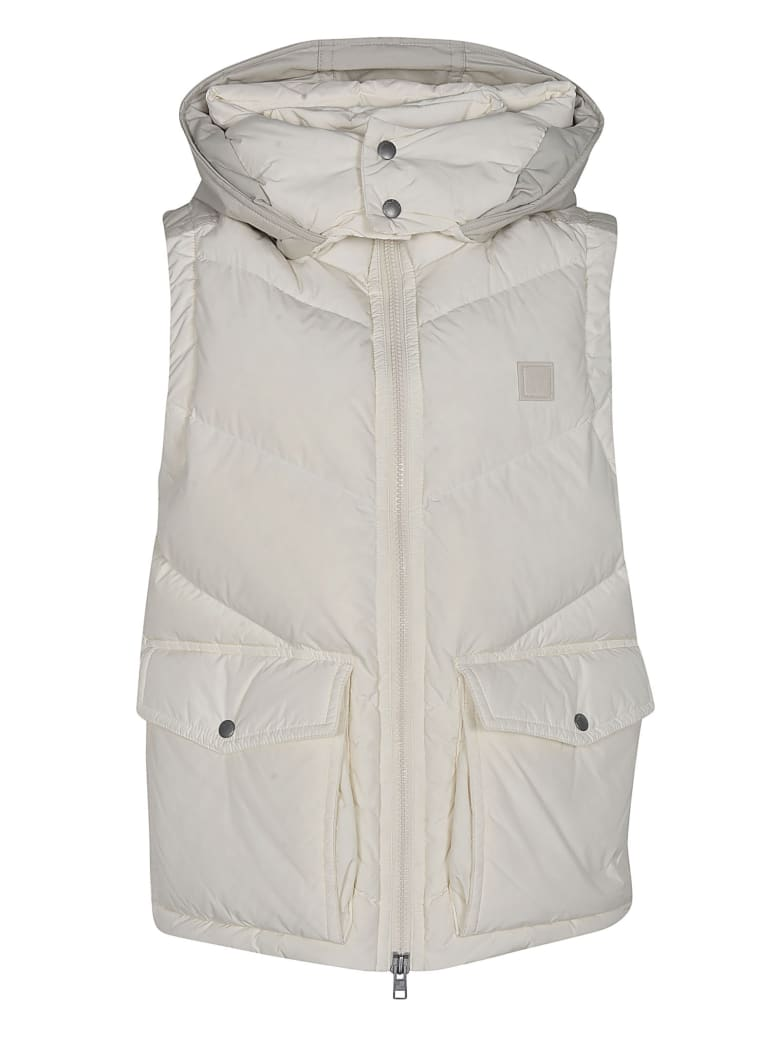 Woolrich Two Cargo Buttoned Pocket Gilet - White