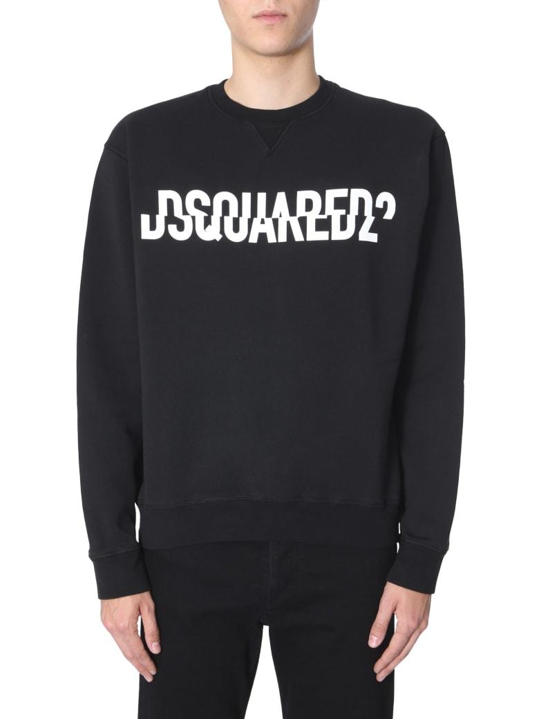 Dsquared2 Sweatshirt With Logo Print - NERO
