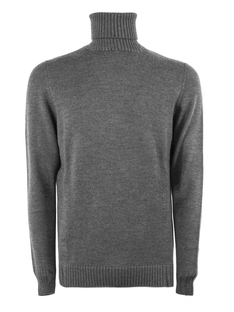 Drumohr Grey Merino Wool Sweater - Antracite